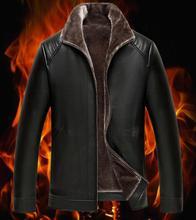 Hot Brand Quality Winter Men's Leather Jacket Warm Coat Leisure Men Jackets Motorcycle Clothing Classic male Fur Coats M-XXXL