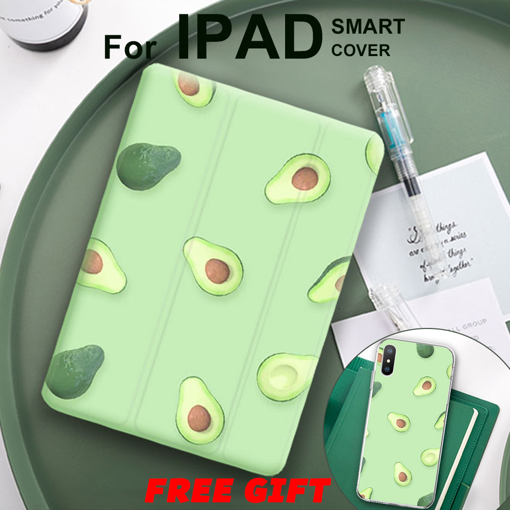 Avocado Frui't Magnet Flip Cover For IPad Pro 9.7 Air 3 10.5 11 Mini 1 2 3 4 5 2019 Tablet Case Soft Back For IPad 9.7 2017 2018