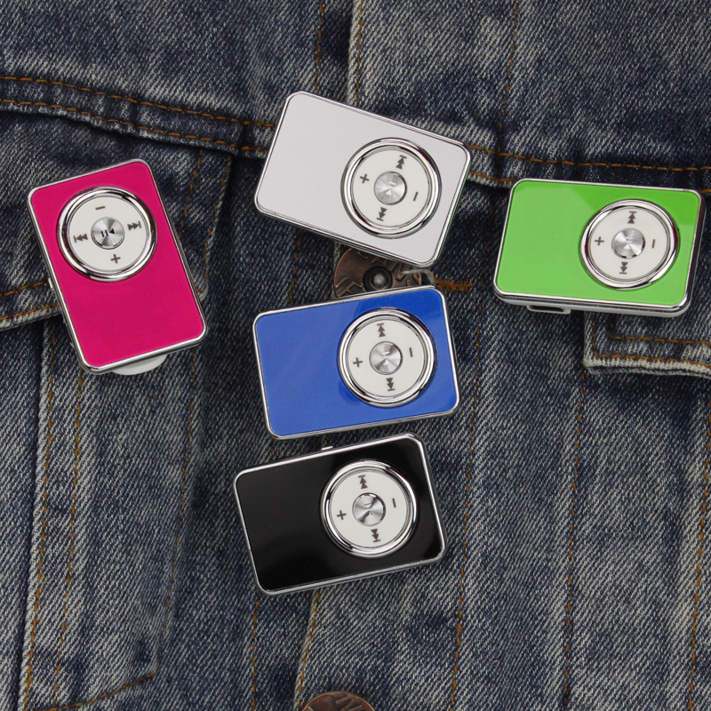 Hot Mini Clip USB MP3 Music Media Player with USB Cable Support Micro SD TF 1-16GB Digital mp3 player free shipping