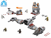 Legoing 836 piezas Star Toy Wars Plan Series la defensa de Crait Set Compatible LegoINGlys 75202 bloques de construcción de Juguetes(China)