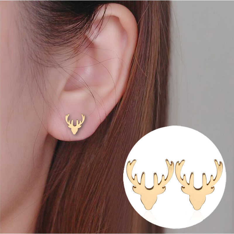 Jisensp New Vintage Jewelry Exquisite Feather Earrings for Women Cute Animal Simple Paw Stud Earrings pendientes mujer moda 2018