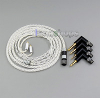 4 in 1 Plug 8 cores 99.99% Pure Silver Earphone Cable For Shure se535 se846 MMCX 5 6 8 10 12 20 BA LN006256