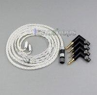 4 in 1 Stecker 8 kerne 99.99% Reinem Silber Kopfhörer Kabel Für AKG N5005 N30 N40 MMCX LN006256