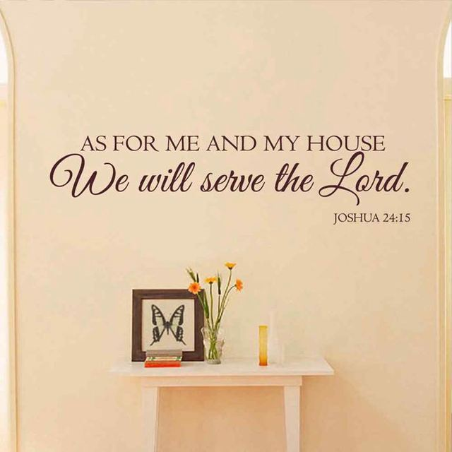 Battoo As For Me And My House Wall Stickers Scripture Quote Wall