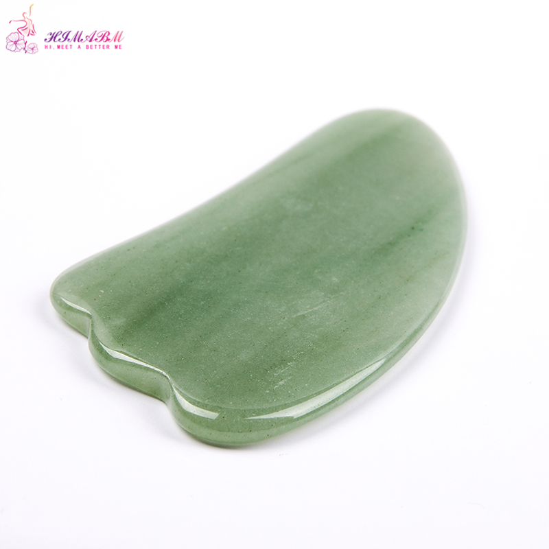 HIMABM Green Aventurine Gua Sha Guasha Board plates Face Massage Beauty Chinese Natural Jade Health Care Massage Scrape Tools