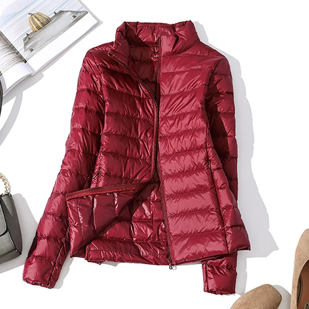 Winter UltraLight   Down   Jacket Women Windproof Warm Women's Lightweight Packable   Down     Coat   Plus Size Autumn Casual Slim Parkas