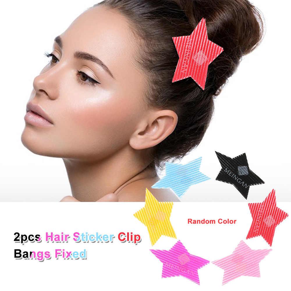 2 sztuk włosów naklejki klip Bangs naprawiono bez szwu magia wklej posty magiczna taśma Fringe Hair Bang Patch stylizacja z salonu narzędzia