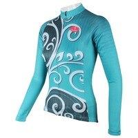 """بالادين """"فينيكس ريشة"""" إمرأة قميص طويل الأكمام الدراجات جيرسي الدراجة الدراجات الملابس-في قمصان ركوب الدراجات من الرياضة والترفيه على"""