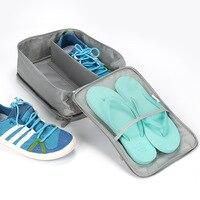 フライト旅行靴バッグメンズとレディーストラベルアクセサリーポータブルナイロン靴バッグ防水運ぶ靴梱包主