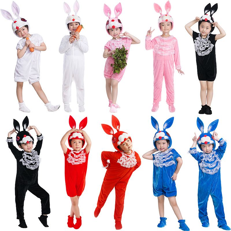 Lace Deco Pet Bunny Rabbit Costume For Kids Children Adult Cosplay Animal Halloween Christmas Costume Jumpsuit Stage Show Party