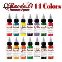 14 pezzo Microblading Inchiostro Del Tatuaggio Pigmento Set di Trucco Permanente Pigmento Inchiostro per la Macchina Del Tatuaggio Vernici per i Tatuaggi