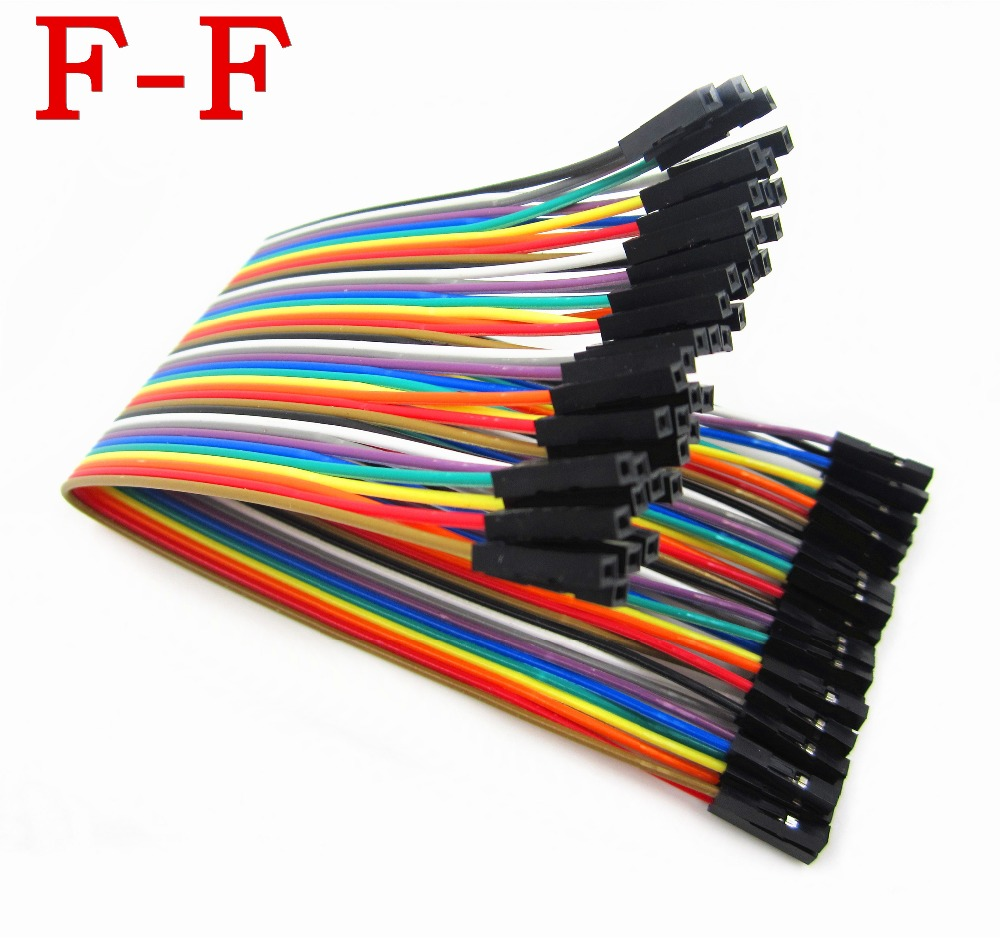 40pcs in Row Dupont Cable 20cm 2.54mm 1pin 1p-1p female to female jumper wire 40pcs in row dupont cable 20cm 2 54mm 1pin 1p 1p female to female jumper wire