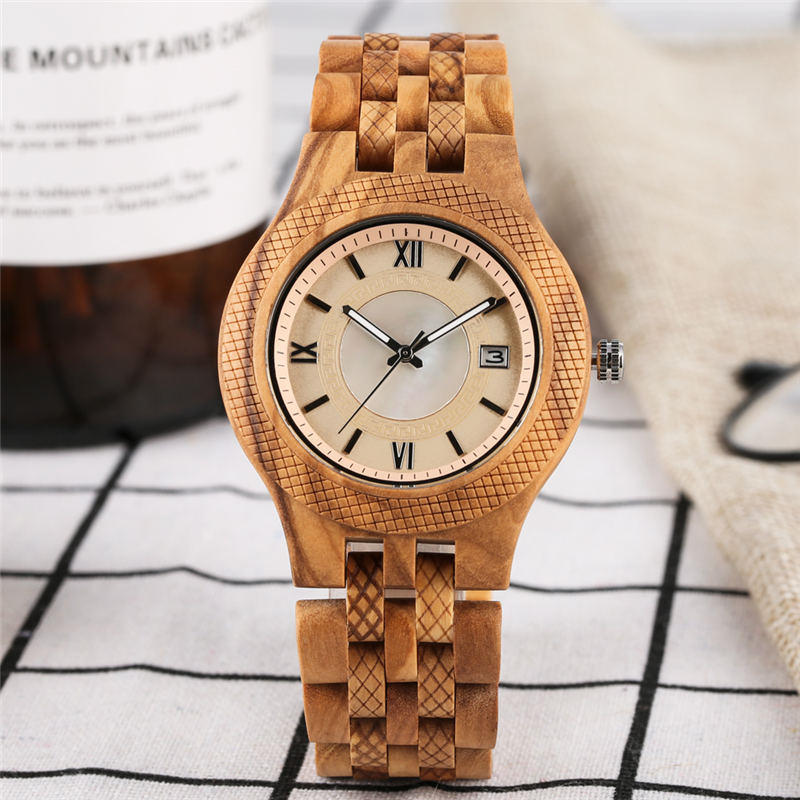 2019 Quartz Watch Unique Calendar Zebra Ebony Zebra Wooden Watch Luminous Hands Couple Watches for Lovers montre couple2019 Quartz Watch Unique Calendar Zebra Ebony Zebra Wooden Watch Luminous Hands Couple Watches for Lovers montre couple