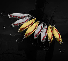 10pcs/box kit Set 2.5g/3.5g small weight trout fishing metal lure bait leech sequined suit golden/silver color choice