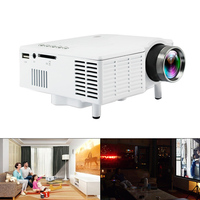 UC28 60 Inch LED Projector 500 Lumen 320x240 Pixels HDMI USB Mini Projector Home Media Player with High Precision Coating Lens