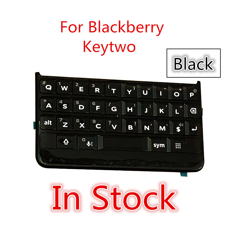 In Stock Black Keypad For BlackBerry Keytwo Keyboard Button With Flex Cable For BlackBerry Key 2 Keypad Key Two Key2 Replacement