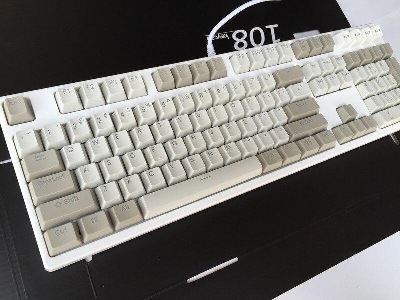 Translucidus Keycap Retro gray 108 PBT Backlit Keycap OEM Profile For MX Switches Mechanical Keyboard Gaming