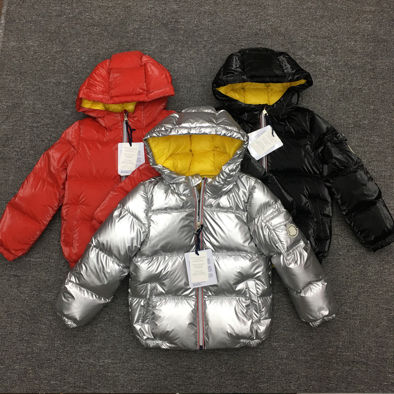 FTLZZ Kids Silver Down Jacket Boys Girls Hooded 95% White Duck Down Coat Winter Baby Thicken Warm Outwear Snow Coat Clothes 2018 winter children down coat kids thicken warm 80% white duck down hooded jacket baby boys girls casual outerwear 4 12t
