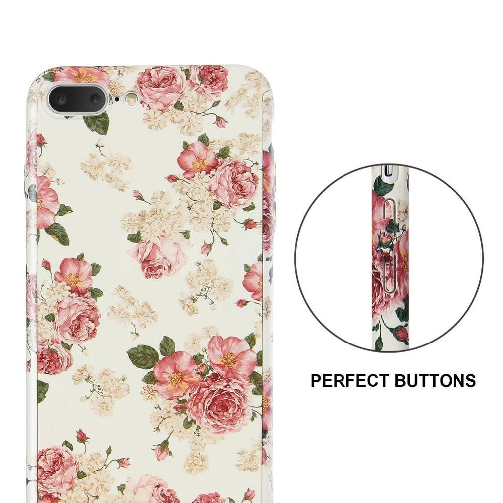 360 Degrees Full Protection Retro Flower Hard Cover