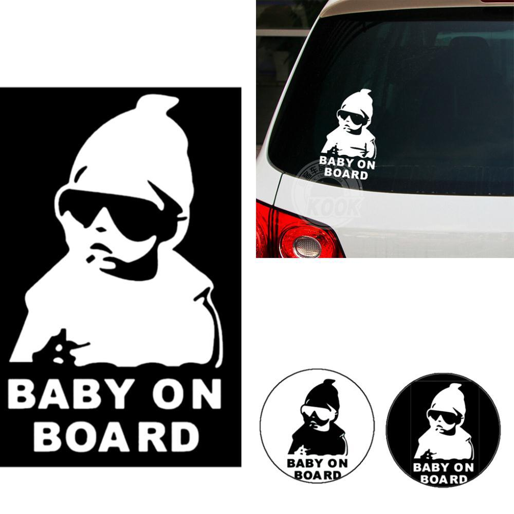 Child Car Window Decal Stickers Quality New Baby In Car Safety sticker