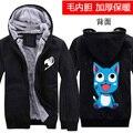 Anime Fairy Tail Hoodie Habib Print Coat  Jacket Fashion Men Women Winter Zipper Hooded Sweatshirt