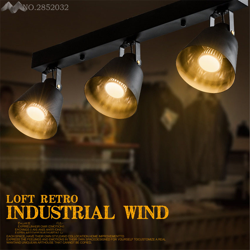 Modern Minimalist American Arts Lamp Track Light Retro Space Industrial Bar  Clothing Store Spotlights Ceiling Background Lamp In Ceiling Lights From  Lights ...