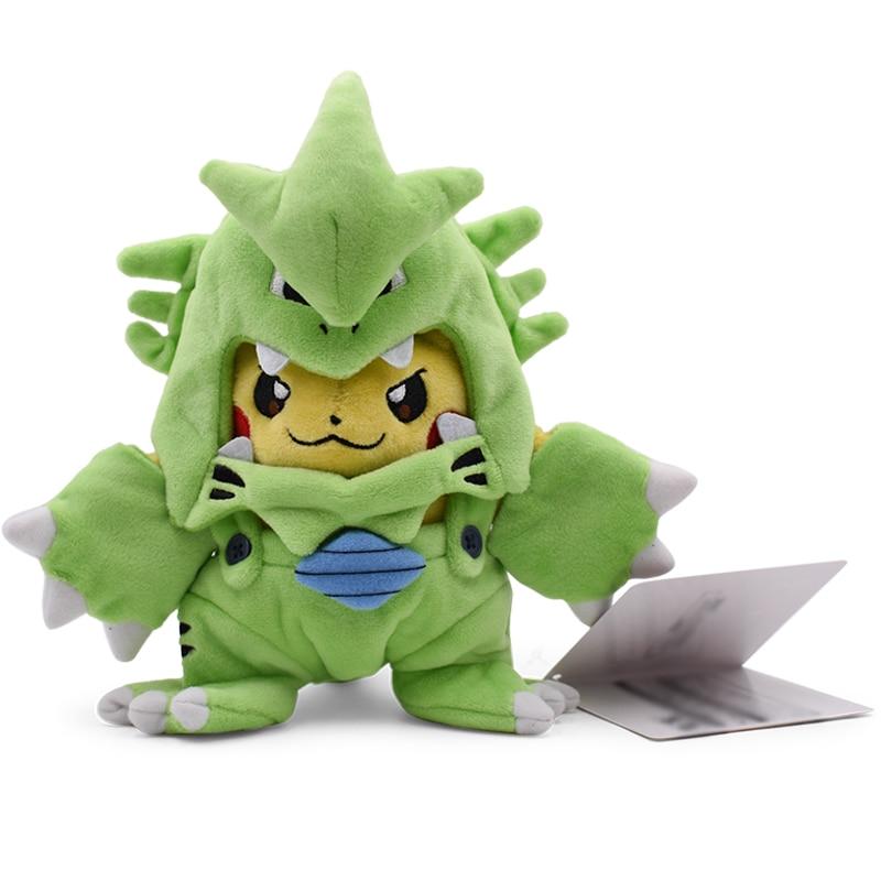 Tyranitar Pikachu Plush Toy Cosplay Soft Stuffed Collect Doll Gift