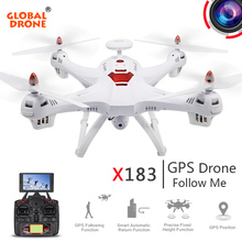 Global Drone X183 Dual GPS Drone Follow me dron 5 8G FPV RC Quadcopter with 1080P