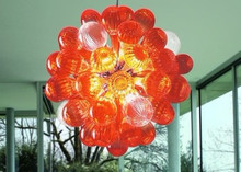 все цены на Decorative Hanging Small Chandelier Round Cheap Price Chihuly Style Hand Blown Glass Balls Chandelier онлайн