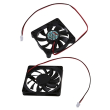 купить Desktop PC Case DC 12V 0.16A 60mm 2 Pin Cooler Cooling Fan & 80mm 2 Pin Connector Cooling Fan For Computer Case CPU Cooler Rad по цене 158.39 рублей