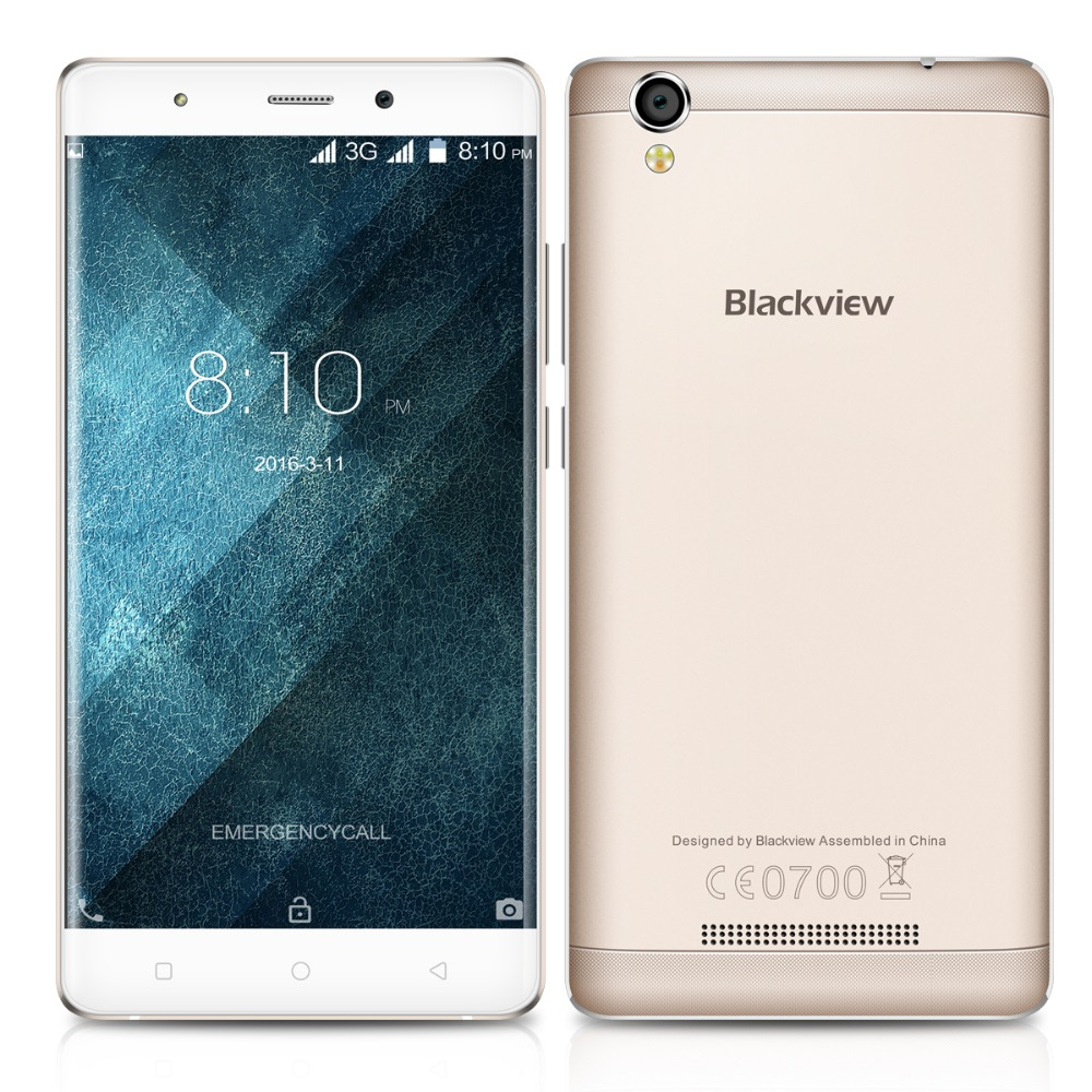 Original Blackview A8 Phone With 5 0 1280 720 Android 5 1 MTK6580A Quad Core 1GB