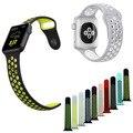 Faixa de relógio do silicone para apple watch série 2 pulseira de borracha para a apple watch iwatch ° 42mm 38mm esportes pulseira com adaptadores