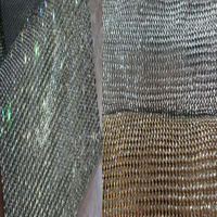 YY DIY Pretty Bling Bling Glitter 22x20cm Full Rhienstone Metal Mesh Fabric Metallic Cloth Metal Sequin