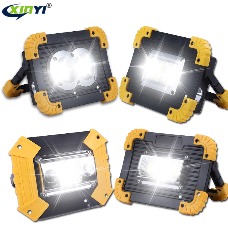 100W Led Portable Spotlight 30000lm Super Bright Led Work Light Rechargeable for Outdoor Camping Lampe Led Flashlight by 18650