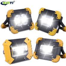 100W Led Portable Spotlight 30000lm Super Bright Led Work Light Rechargeable for Outdoor Camping Lampe Led Flashlight by 18650(China)