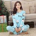 Nuevo Otoño Invierno de Las Señoras de Las Mujeres ropa de Noche Homewear de Manga Larga Pijamas de Dibujos Animados Establecen Ropa Deportiva