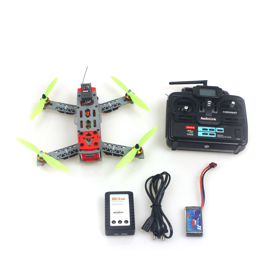 F16051-A JMT FPV 260 Frame Small Quadcopter with Motor ESC Flight Control Opensource 6Ch TX & RX Battery RTF Drone FS jmt diy fpv flight control set openpiolot cc3d revolution flight controller oplink mini transceiver tx rx m8n gps compass