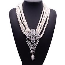 2017 новая мода xg233 роскошные ожерелья & подвески долго жемчуг бусы цепь choker кристалл заявление ожерелье капли ювелирные изделия