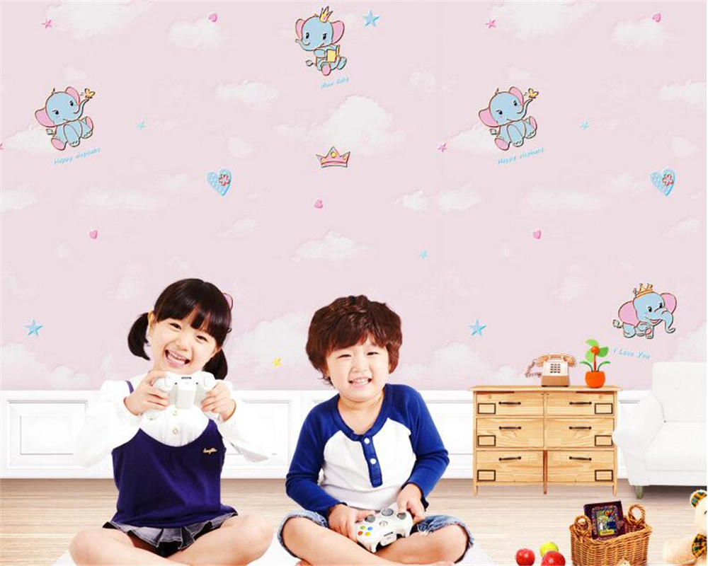 beibehang 3D stereoscopic relief children boy girl room little elephant nonwoven 3d wallpaper warm pastoral wall paper tapety beibehang three dimensional pastoral floral nonwoven 3d wall paper warm pink children s bedroom girl bedroom european wallpaper