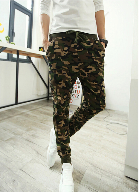 Babbytoro Mens Camouflage Joggers Casual Fashion Stylish Camo Spring Autumn Hip Hop Sweatpants Size S M L XL XXL