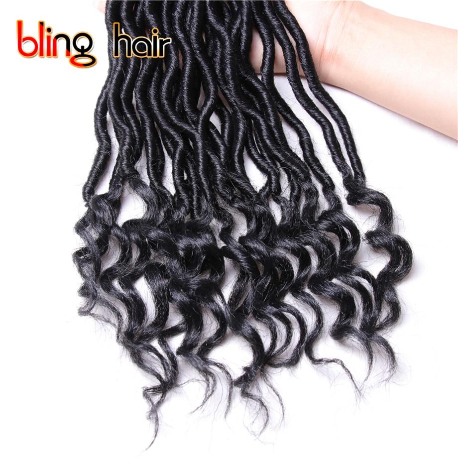 8Pcs/Lot 14 inch Goddess Locs Curly End Crochet Hair Weave Twist Braiding Hair Soft Synthetic Kanekalon Hair 55g/Bundle 24 Roots