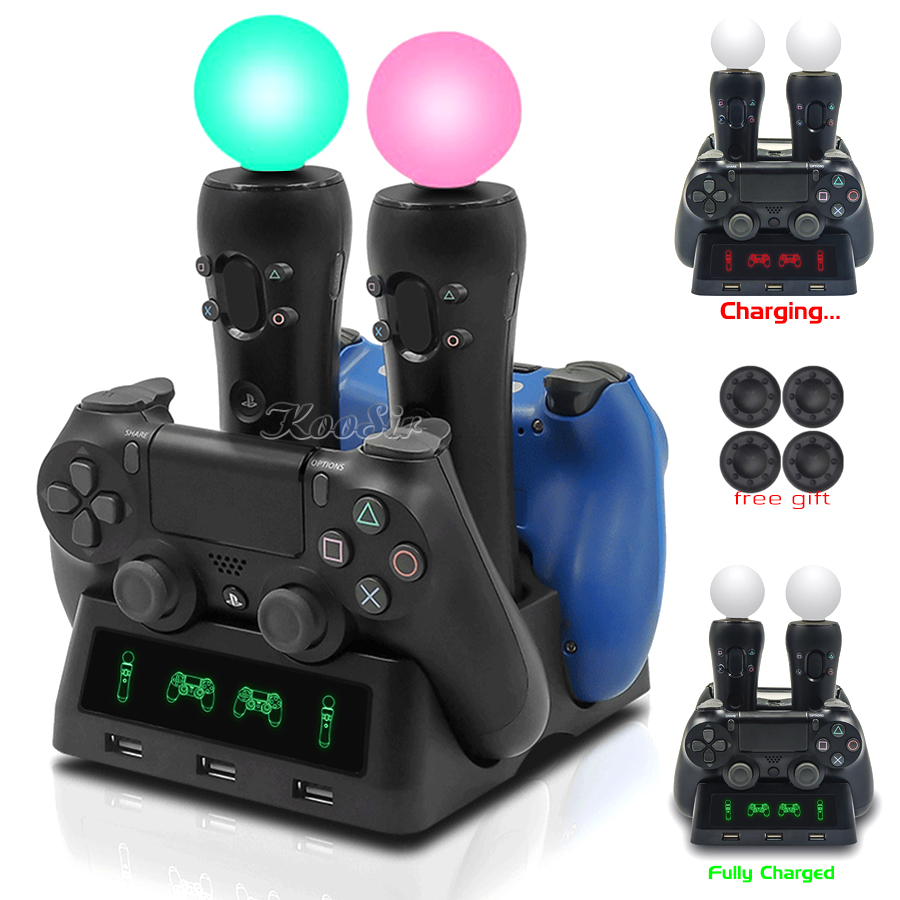 2019 Newest PS Move VR PSVR Controller Charger Stand PS4 Joystick Gamepad Charging Dock Station for Playststion PS 4 Games image