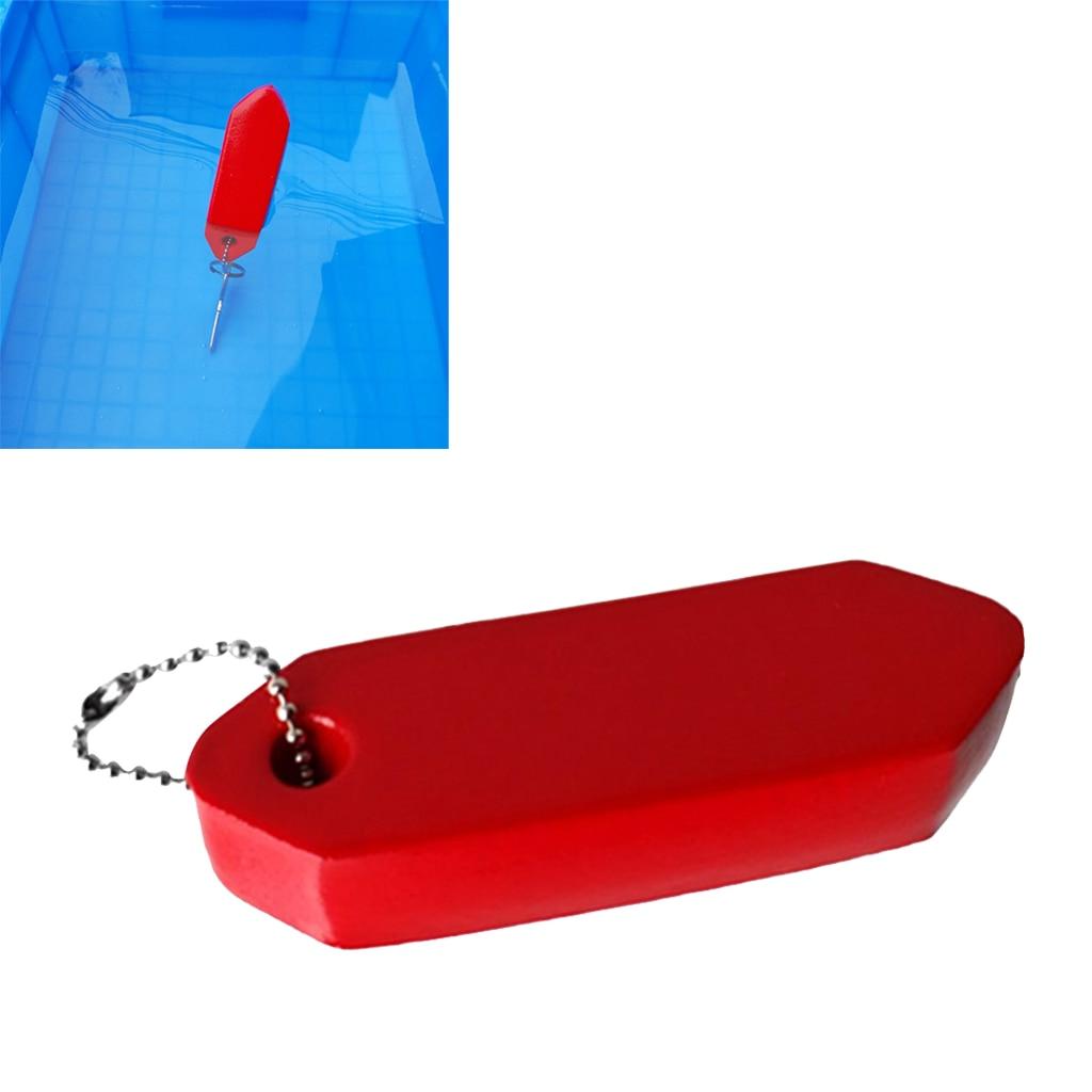 Anti-Lost Floating Foam Keychain Buoyant Key Ring Water Sports Boating Kayaking Fishing Boat Sailing Buoy Key Float (Red)