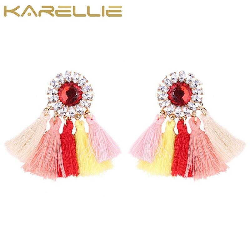 KARELLIE 2017 New Fashion Boho Statement Earrings Jewelry Tassel Wedding For Women Bijoux