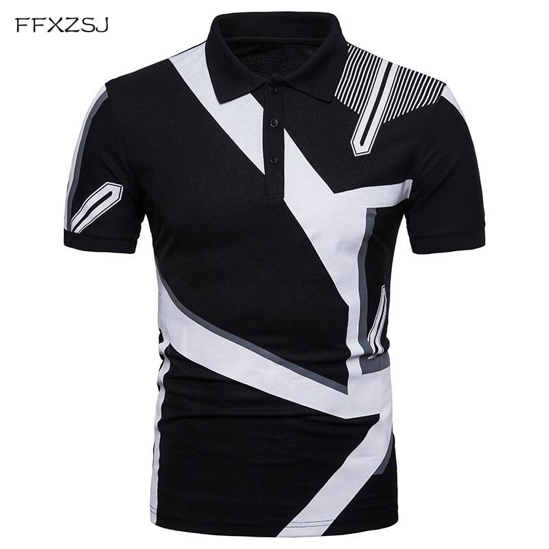 2018 nuevas Tops camisa de polo masculina del estilo Casual marca de - Ropa de hombre