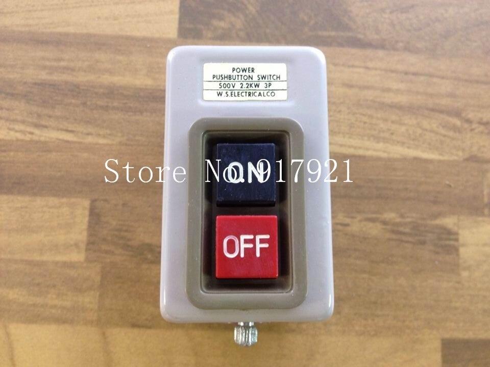 [ZOB] WS BS216B3 import power push button switch 3P 2.2KW genuine original --10PCS/LOT