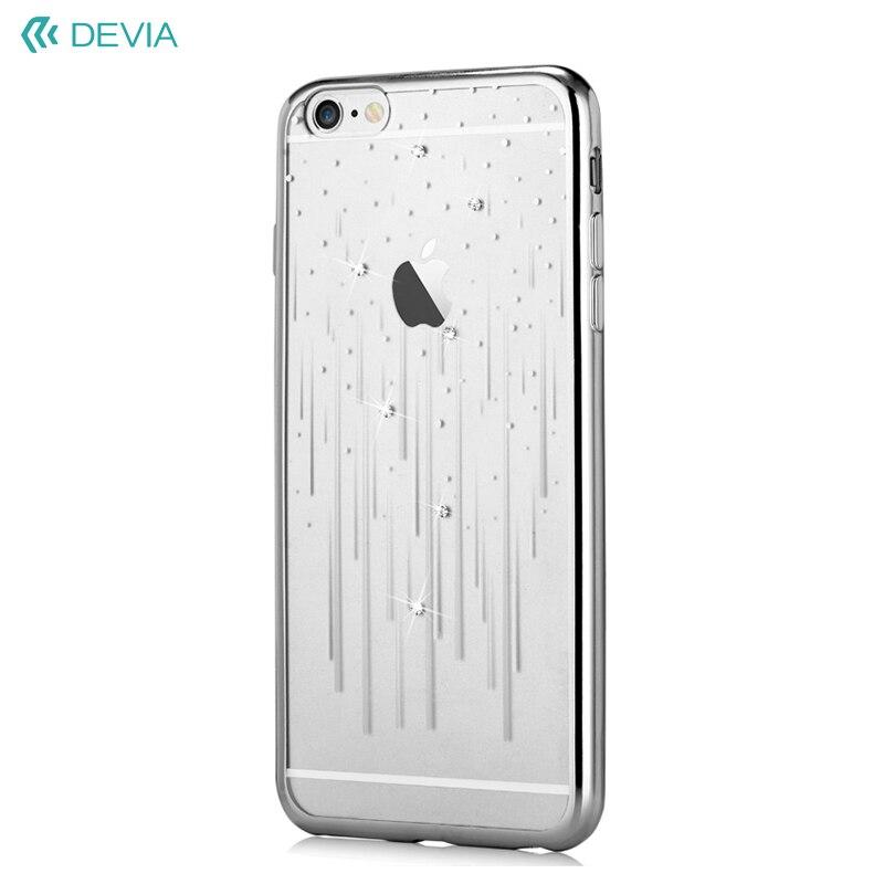 Devia алмазный гальванический ТПУ чехол для iPhone 6S Plus/6 Plus-метеорный поток/серебро