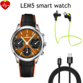 LEMFO LEM5 Android 5.1 OS Smart Watch Phone 1GB+8GB Resolution 400*400 Support SIM card GPS WiFi Heart Rate Monitor smartwatch