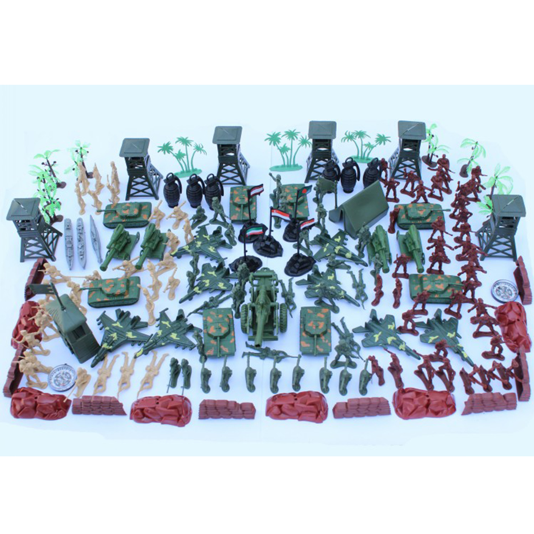 Christmas Gift 167Pcs 5cm Plastic Soldier Model World War II Soldier Military Toy Set Children Looking For During For A Little