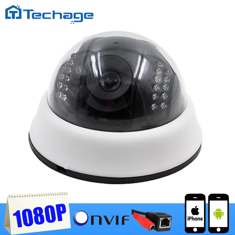 2016 Techage 1080P Mini CCTV IP font b Camera b font Indoor Dome 1920 1080 Network